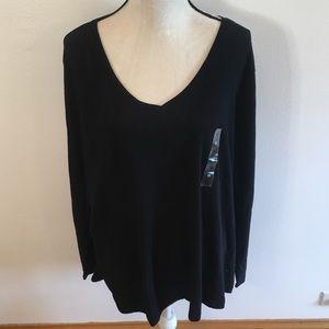 "NWT Sonoma black long sleeve ""the everyday tee"" 2X"